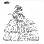 Allerlei Kleurplaten - Klassieke jurk