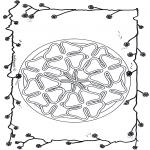 Mandala Kleurplaten - Klavertjevier mandala