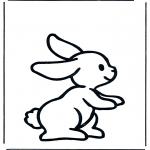 Kinderkleurplaten - Klein konijntje 1