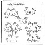 Knutselen - Kleren aankleedpop 1