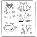 Knutselen - Kleren aankleedpop 3