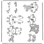 Knutselen - Kleren aankleedpop 4