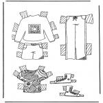 Knutselen - Kleren aankleedpop 5