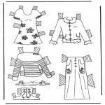 Knutselen - Kleren aankleedpop 6