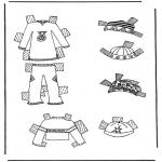 Knutselen - Kleren aankleedpop 7