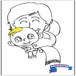 Thema Kleurplaten - Kleurplaat baby 2