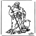 Kleurplaten Bijbel - Kleurplaat de goede Herder