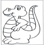 Kleurplaten Dieren - Kleurplaat dinosaurus