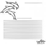 Knutselen - Kleurplaat dolfijn
