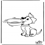 Kleurplaten Dieren - Kleurplaat hond