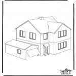 Kleurplaat Huizen Allerlei Kleurplaten
