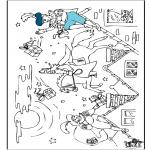 Knutselen Prikkaarten - Kleurplaat Sint 2
