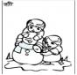 Kleurplaat sneeuwpop 3