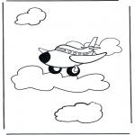 Allerlei Kleurplaten - Kleurplaat vliegtuig 1