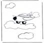Kleurplaat vliegtuig 1