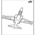 Allerlei Kleurplaten - Kleurplaat vliegtuig 2