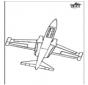 Kleurplaat vliegtuig 2