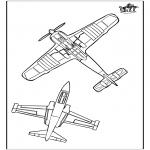 Allerlei Kleurplaten - Kleurplaat vliegtuig 3