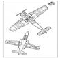 Kleurplaat vliegtuig 3