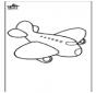 Kleurplaat vliegtuig 4