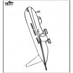 Allerlei Kleurplaten - Kleurplaat vliegtuig 5