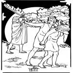 Kleurplaten Bijbel - Kleurplaten Adam en Eva