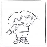 Kinderkleurplaten - Kleurplaten Dora