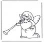 Kleurplaten engel