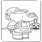 Thema Kleurplaten - Kleurplaten Halloween