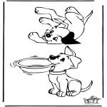 Kleurplaten Dieren - Kleurplaten honden