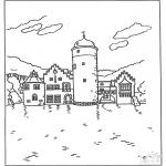 Allerlei Kleurplaten - Kleurplaten kasteel