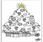 Kleurplaten kerstboom 2