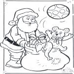 Kerst Kleurplaten - Kleurplaten kerstman
