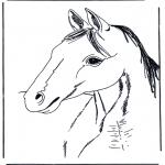 Kleurplaten dieren - Kleurplaten paarden