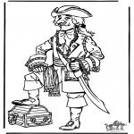 Allerlei Kleurplaten - Kleurplaten piraat