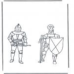Allerlei Kleurplaten - Kleurplaten ridders