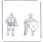 Kleurplaten ridders
