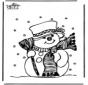 Kleurplaten sneeuwman 1