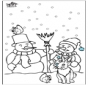 Kleurplaten sneeuwman 3
