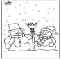 Kleurplaten sneeuwman 4