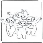 Kinderkleurplaten - Kleurplaten Teletubbies