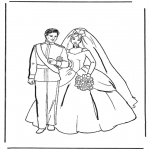 Thema Kleurplaten - Kleurplaten trouwen