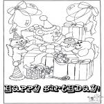 Thema Kleurplaten - Kleurplaten verjaardag