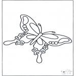 Kleurplaten Dieren - Kleurplaten vlinder
