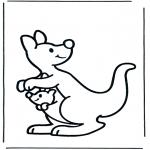 Kinderkleurplaten - Kleuter kangoeroe
