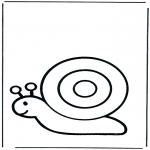Kinderkleurplaten - Kleuter slak
