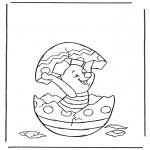 Stripfiguren Kleurplaten - Knorretje in paasei