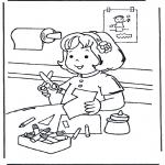 Kinderkleurplaten - Knutselen