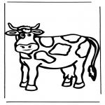 Kleurplaten Dieren - Koe 1