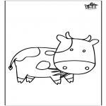 Kleurplaten Dieren - Koe 3
